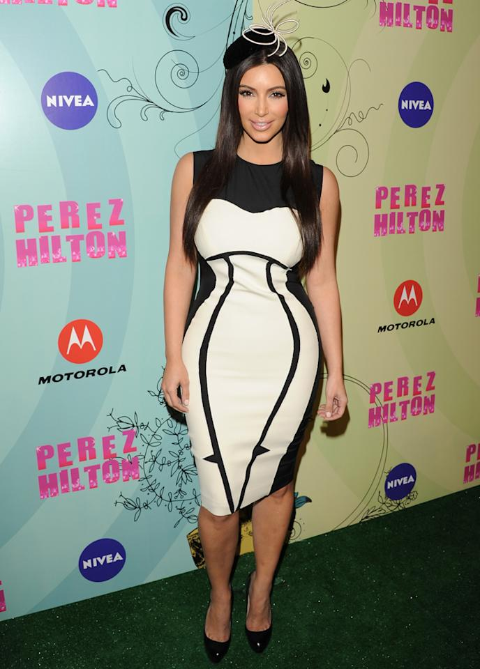 Kim Kardashian attends Perez Hilton's Mad Hatter Tea Party Celebration on March 24, 2012 in Hollywood, California. (Photo by JB Lacroix/WireImage)
