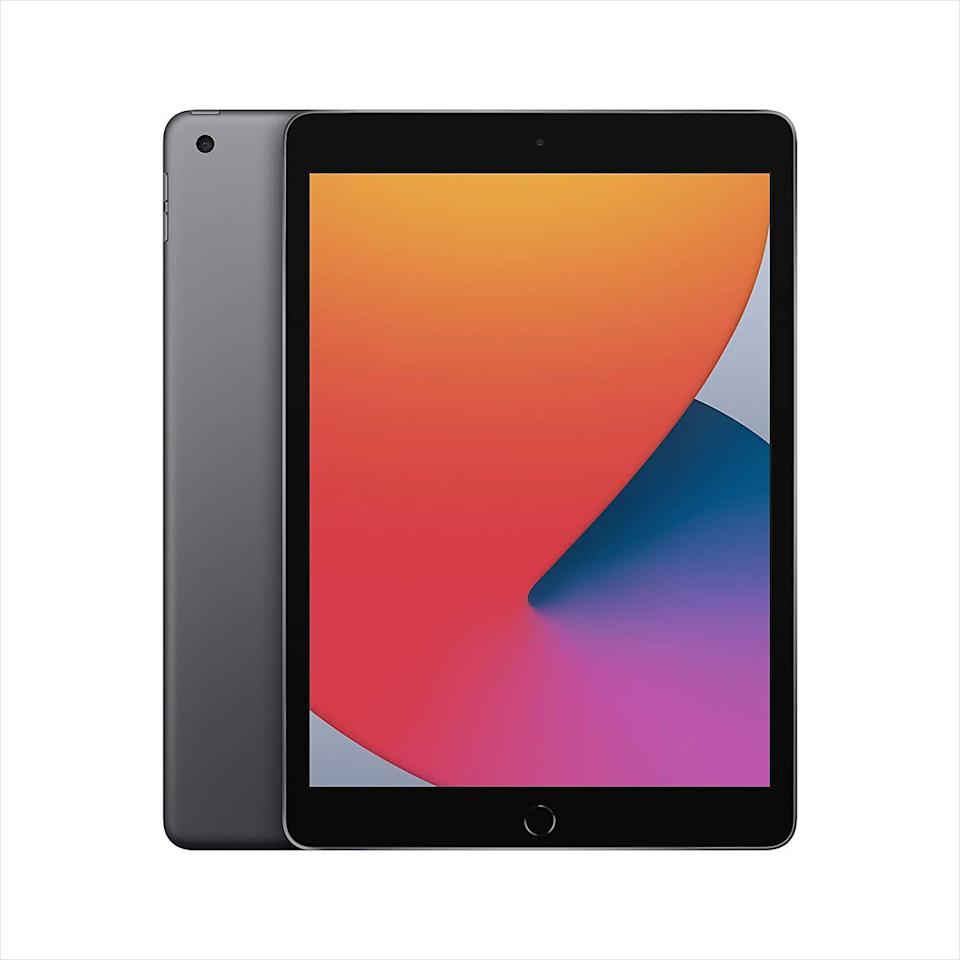 """<p><strong>Apple</strong></p><p>amazon.com</p><p><a href=""""https://www.amazon.com/dp/B08J65DST5?tag=syn-yahoo-20&ascsubtag=%5Bartid%7C10056.g.36788447%5Bsrc%7Cyahoo-us"""" rel=""""nofollow noopener"""" target=""""_blank"""" data-ylk=""""slk:Shop Now"""" class=""""link rapid-noclick-resp"""">Shop Now</a></p><p><del>$329.00</del> $299.00 <strong>(9% off)</strong></p><p>Take your iPad experience a little further, and be sure to snag the <a href=""""https://amzn.to/3vEuN8m"""" rel=""""nofollow noopener"""" target=""""_blank"""" data-ylk=""""slk:Apple Pencil"""" class=""""link rapid-noclick-resp"""">Apple Pencil</a>, which is a great tool for writing, drawing, and all kinds of fun stuff. </p>"""