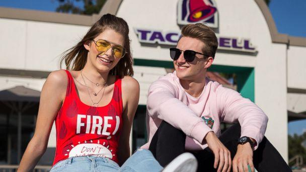 PHOTO: Forever 21 and Taco Bell's new limited edition clothing line is available in stores and online. (Regina Wu)