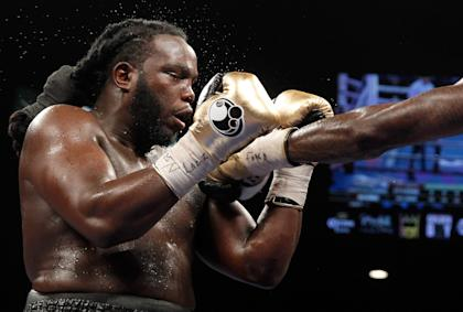 Ex-WBC heavyweight champion Bermane Stiverne. (Photo by Steve Marcus/Getty Images)