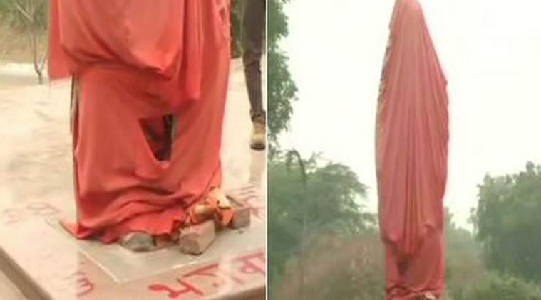 The idea of having a life-sized statue of Swami Vivekananda was first publically declared in July 2017. At the time, it was not decided where it would be constructed. (Source: ANI)