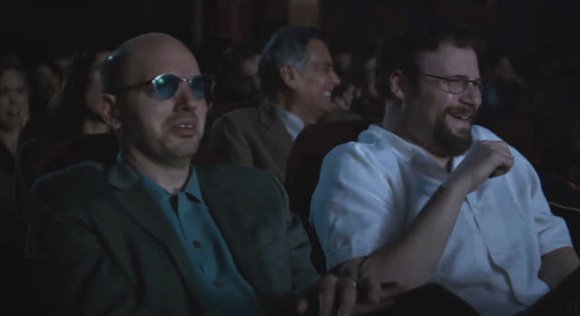 Paul Scheer, left, and Seth Rogen in <i>The Disaster Artist</i> (Photo: A24)