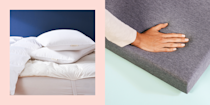 "<p>Sometimes your mattress just needs a little extra something, and, no, I'm not talking about more throw <a href=""https://www.cosmopolitan.com/health-fitness/a30355114/best-pillow-for-neck-pain/"" rel=""nofollow noopener"" target=""_blank"" data-ylk=""slk:pillows"" class=""link rapid-noclick-resp"">pillows</a>. </p><p>If it's too firm, too soft, or you just want a little extra padding, you should definitely try out a mattress topper. They're less expensive than a literal mattress, so you can throw one on to revive your old, lumpy bed for a great night's sleep. These babies also work miracles on those uncomfy spring mattresses (I definitely used one for my stiff dorm-room one in college), since they provide a couple inches of soft, cushiony layers. </p><p>There are many types of mattress toppers out there though, like foam, wool, down, latex, and more. So, here, we've rounded up 11 options for all kinds of sleepers. Keep scrolling for a heavenly night of rest. </p><p>Oh, and FYI, for an even better bed, grab some <a href=""https://www.cosmopolitan.com/lifestyle/a22686424/best-linen-sheets/"" rel=""nofollow noopener"" target=""_blank"" data-ylk=""slk:linen"" class=""link rapid-noclick-resp"">linen</a> or <a href=""https://www.cosmopolitan.com/lifestyle/g28890727/luxury-sheets/"" rel=""nofollow noopener"" target=""_blank"" data-ylk=""slk:luxury sheets"" class=""link rapid-noclick-resp"">luxury sheets</a>, these amazing <a href=""https://www.cosmopolitan.com/lifestyle/a27584268/best-pillows-side-sleepers/"" rel=""nofollow noopener"" target=""_blank"" data-ylk=""slk:side-sleeper pillows"" class=""link rapid-noclick-resp"">side-sleeper pillows</a>, and <a href=""https://www.cosmopolitan.com/lifestyle/g33338019/best-cooling-comforters-for-hot-sleepers/"" rel=""nofollow noopener"" target=""_blank"" data-ylk=""slk:cooling comforters"" class=""link rapid-noclick-resp"">cooling comforters</a> to complete the full ~experience~. </p>"