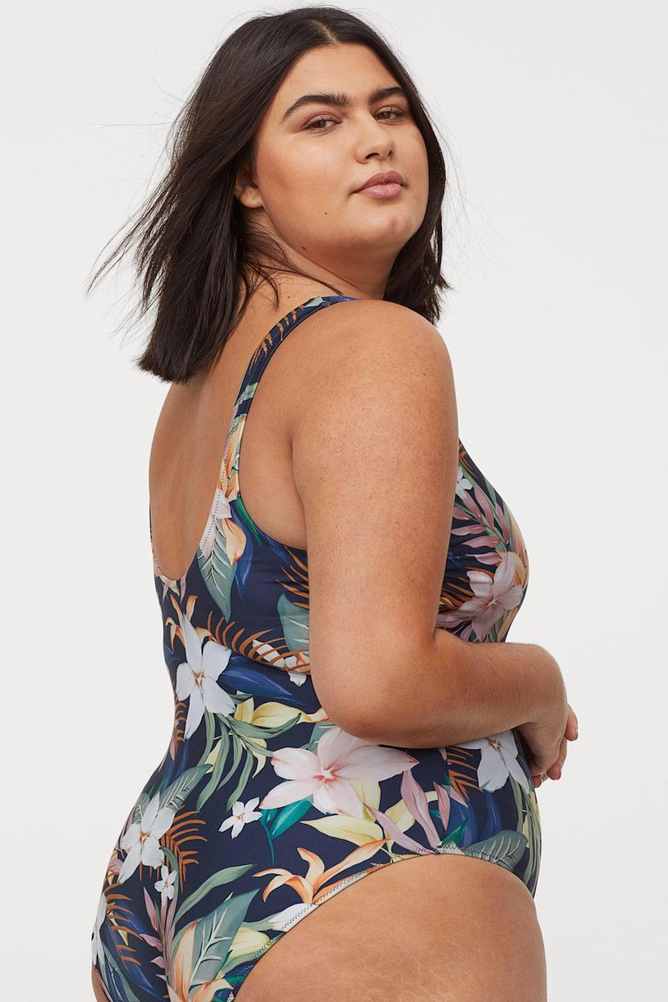 <p>The softly subdued tropical print on this <span>H&amp;M Swimsuit</span> ($35) is so fun.</p>
