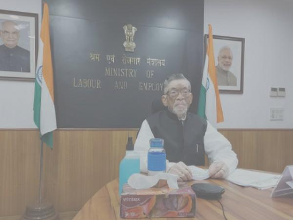 Union Minister of State (independent charge) Santosh Gangwar during 109th session of ILC on Saturday.