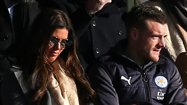 Leicester say Premier League title-winning striker Jamie Vardy has their support after his wife was embroiled in a row with Coleen Rooney.