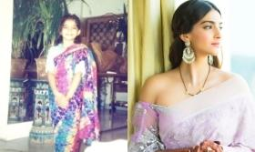 Sonam Kapoor gives her own twist to #SareeTwitter challenge, shares before and after pictures