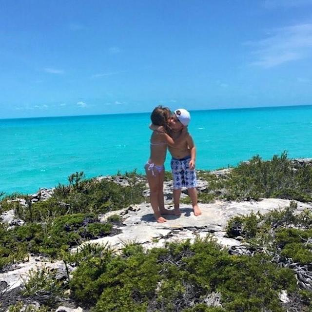 """<p>She posted another sweet pic of her little boy and girl embracing. """"Twin life!"""" she exclaimed. """"Thanking everyone up above for my incredible blessings."""" (Photo: <a href=""""https://www.instagram.com/p/BU4sfzVBjGK/"""" rel=""""nofollow noopener"""" target=""""_blank"""" data-ylk=""""slk:Kim Zolciak via Instagram"""" class=""""link rapid-noclick-resp"""">Kim Zolciak via Instagram</a>) </p>"""