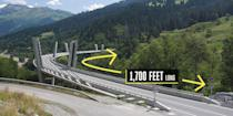 "<p><strong>Klosters, Switzerland</strong></p><p>This curved cable-stayed bridge won plenty of awards after opening in 1998 thanks to both the design and aesthetic that features what one award judge deemed ""a delicate expression of <a href=""https://inspiration.detail.de/sunniberg-bridge-switzerland-109251.html"" rel=""nofollow noopener"" target=""_blank"" data-ylk=""slk:structural art"" class=""link rapid-noclick-resp"">structural art</a> responding to a sensitive landscape."" Designed by Christian Menn, the 1,700-foot bridge curves through the valley with a unique Y-shaped support structure.</p>"