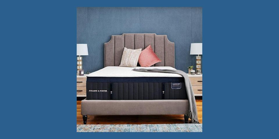 """<p>Another long-time staple in the mattress business, <a href=""""https://www.stearnsandfoster.com/"""" rel=""""nofollow noopener"""" target=""""_blank"""" data-ylk=""""slk:Stearns & Foster"""" class=""""link rapid-noclick-resp"""">Stearns & Foster</a> has been around for more than 170 years, with a selection of premium mattresses all hand-crafted in North Carolina. Each mattress comes with different options for you to customize to your sleep style, so you can choose the firmness of each mattress model (and if the pillow top, if it has one.) The brand's mattresses come with a 10-year warranty.</p><p><a class=""""link rapid-noclick-resp"""" href=""""https://www.stearnsandfoster.com/mattresses/lux-estate-hybrid/v/285/"""" rel=""""nofollow noopener"""" target=""""_blank"""" data-ylk=""""slk:BUY NOW"""">BUY NOW</a> <strong>Lux Estate Hybrid Pollock Mattress, $2,799, <em>stearnsandfoster.com</em></strong></p>"""