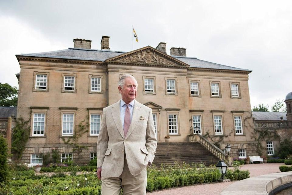 Charles at Dumfries House in Scotland where the Prince's Foundation has its headquarters (Royal Collection Trust/PA) (PA Media)