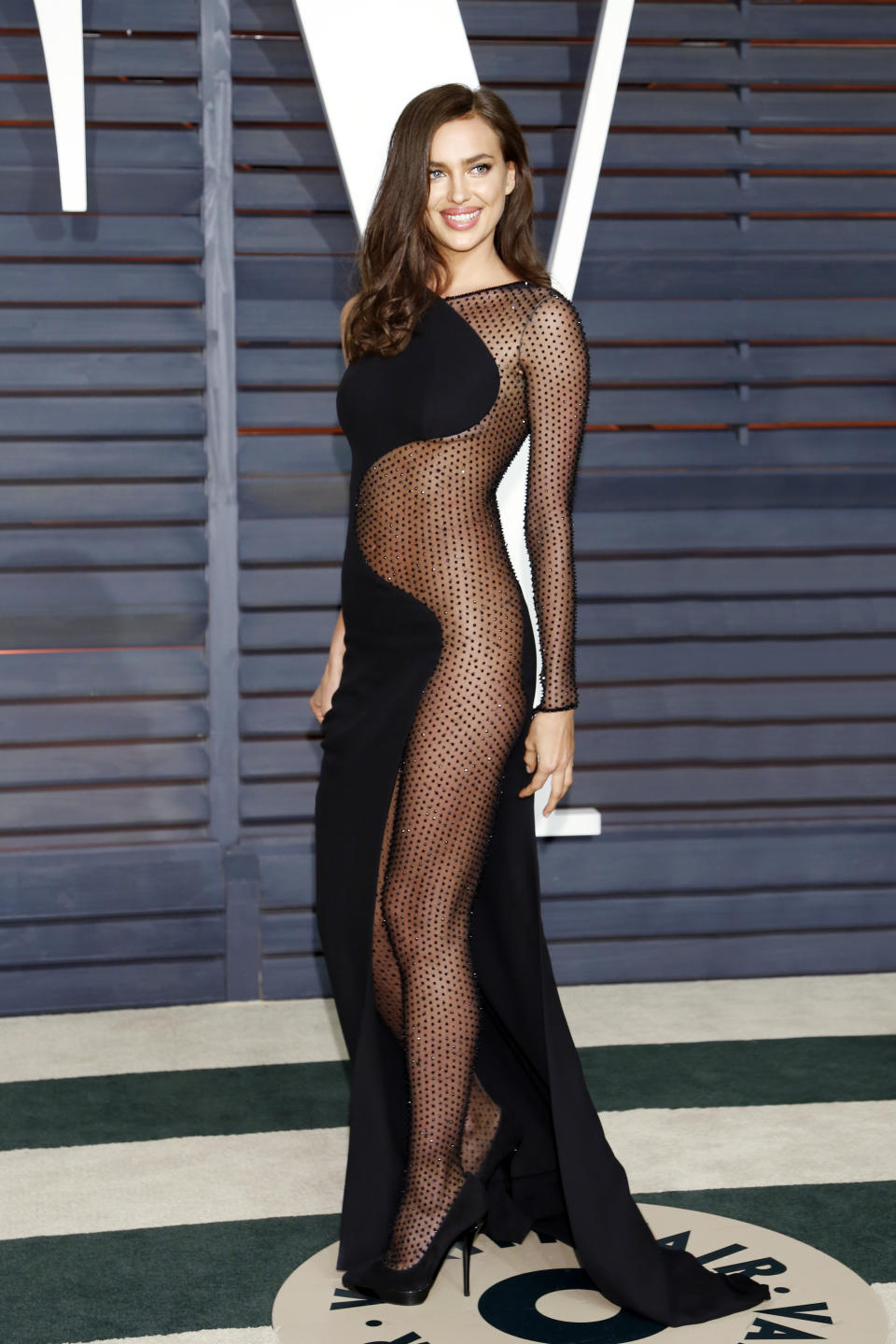 Irina Shayk Vanity Fair Oscar Party 2015 Beverly Hills, CA February 22, 2015 ��Kurt Krieger (Photo by Kurt Krieger/Corbis via Getty Images)