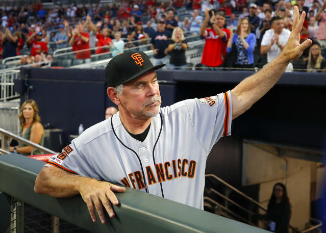 San Francisco manager Bruce Bochy is heading into retirement. (Photo by Todd Kirkland/Getty Images)