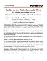 Pembina and Inter Pipeline Successful in Alberta Securities Commission Hearing (CNW Group/Pembina Pipeline Corporation)