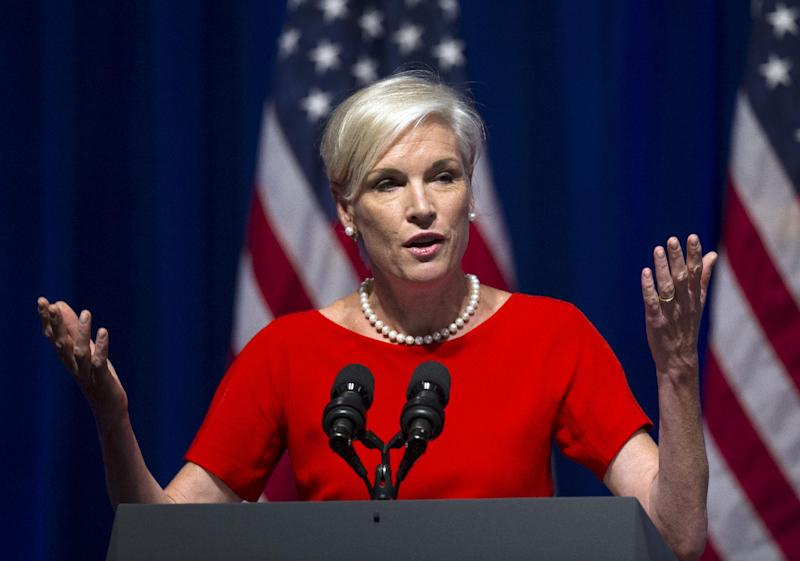 Cecile Richards, president of Planned Parenthood, addresses an Organizing for Action summit in Washington, Monday, July 22, 2013. The group was formed from President Barack Obama's 2012 re-election campaign with the express goal of backing his policy priorities. (AP Photo/Cliff Owen)