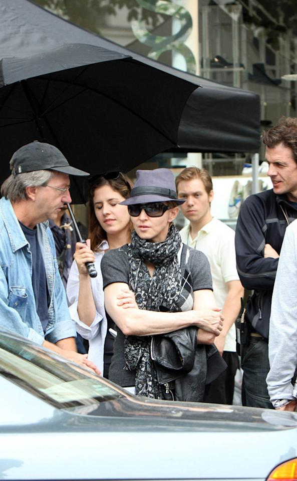 "While Madonna was hard at work directing ""W.E.,"" a movie she also co-wrote that will star Abbie Cornish, in southern France on Sunday, her four children were off having fun. KCSPresse/<a href=""http://www.splashnewsonline.com"" target=""new"">Splash News</a> - August 1, 2010"
