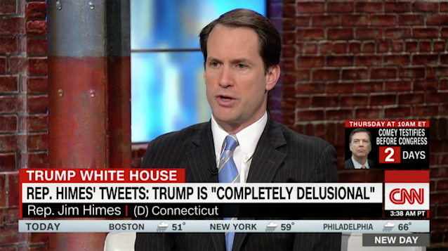"Rep. Jim Himes on CNN's ""New Day."" (Screengrab: CNN)"