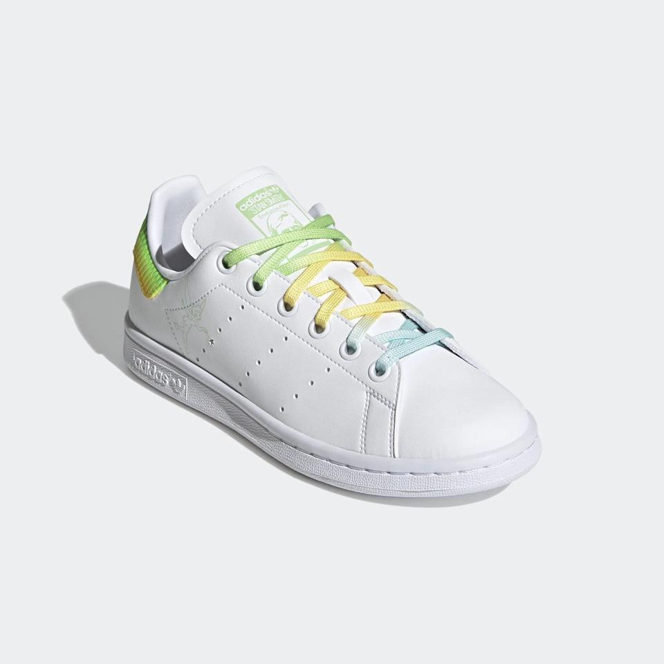 <p><span>Adidas Stan Smith Tinkerbell Shoes For Big Kids</span> ($75)</p>