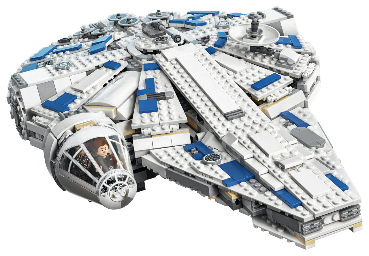 <p>It took Han Solo only 12 parsecs to make his famous run through the Kessel Mines. See if you can lap that record as you assemble this 1,414-piece Lego Millennium Falcon, which comes complete with laser turrets and a Dejarik board. (Photo: Lego) </p>
