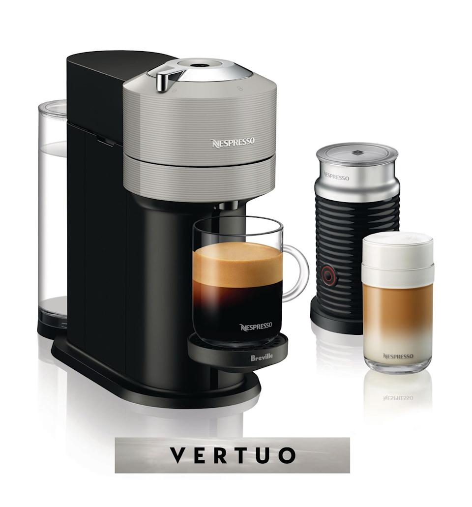 Nespresso Vertuo Next Coffee and Espresso Machine by Breville with Aeroccino Milk Frother is on sale at Walmart Canada.