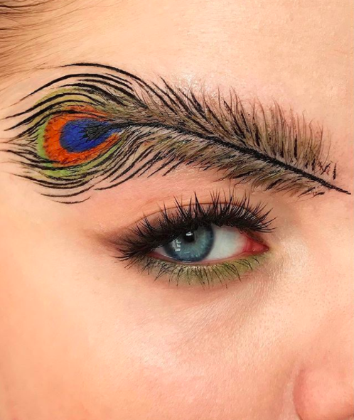 <p>Yep, brows were big news this year. And social media users didn't stop when it came to bird-inspired designs… <em>[Photo: Instagram]</em> </p>