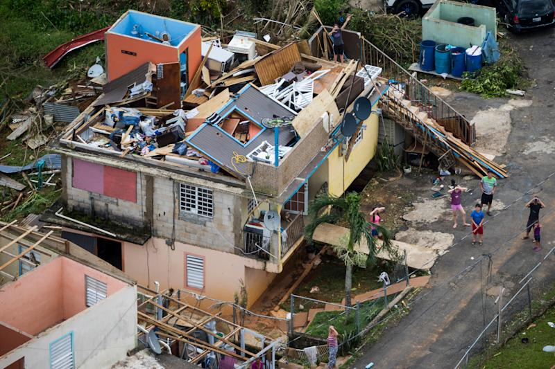 PUERTO RICO SEPTEMBER 23: A devastated house in Morovis Puerto Rico. Hurricane Maria passed through Puerto Rico leaving behind a path of destruction across the national territory. (Photo by Dennis M. Rivera Pichardo for The Washington Post via Getty Images)