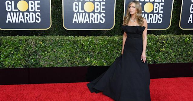 Jennifer Aniston was nominated at the Golden Globes (Getty)