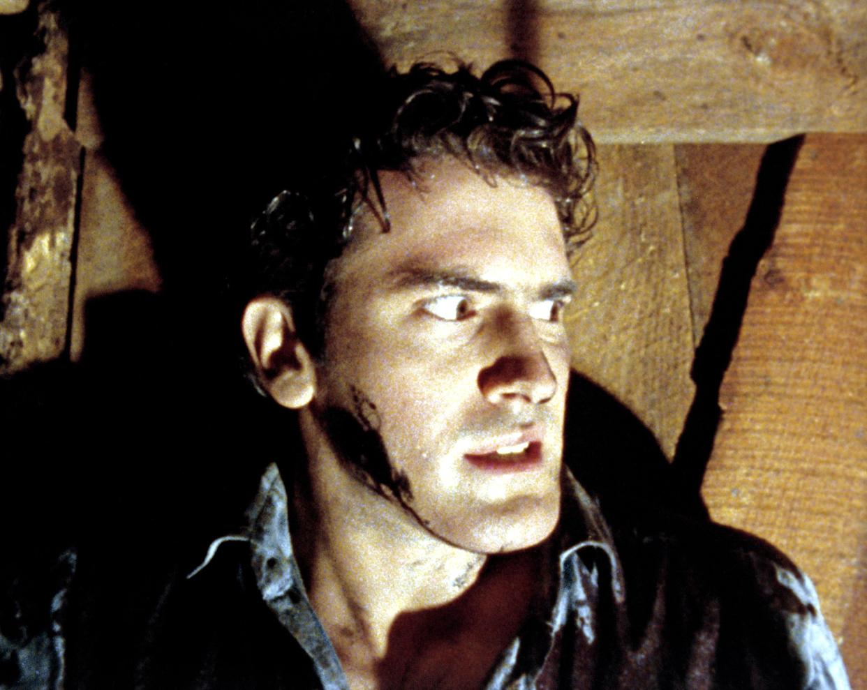 Bruce Campbell made his feature film debut in Sam Raimi's 1981 horror classic, The Evil Dead, which celebrates its 40th anniversary this year. (Photo: New Line/Courtesy Everett Collection)