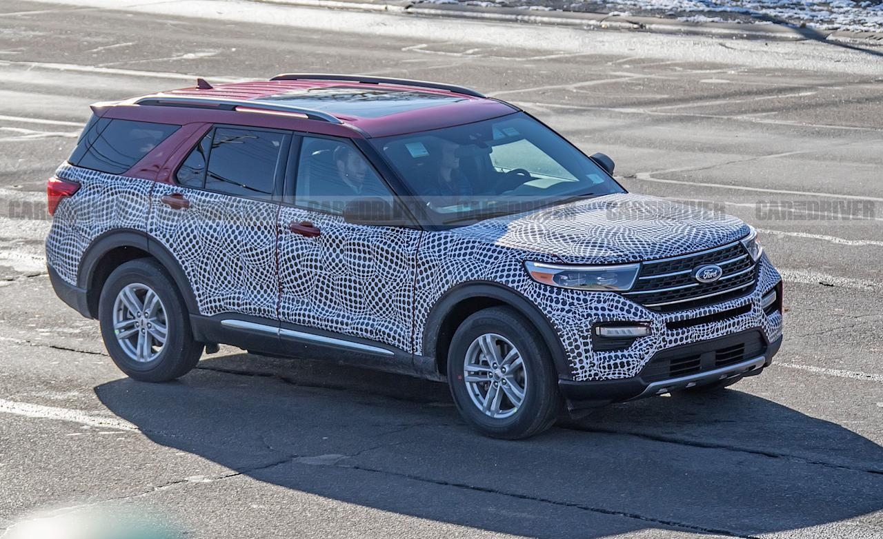 "<p><a rel=""nofollow"" href=""http://caranddriver.com/ford/explorer"">The Ford Explorer</a> is not only one of the Blue Oval's most recognizable nameplates, it's also now one of the company's most important models given the recent shift away from passenger cars toward crossovers and SUVs. An all-new version of the Explorer is on the horizon for 2020, and we've now gotten our first glimpse of the new version in civilian form after seeing plenty of <a rel=""nofollow"" href=""https://www.caranddriver.com/news/this-is-the-new-2020-ford-explorerin-cop-car-form"">the cop-car Explorer</a> (officially known as the Police Interceptor Utility) over the past few months. While the exterior is an evolutionary change from the current Explorer, the 2020 model rides on a new platform and will have new powertrains as well. The interior has now been spied as well, and it is a bigger departure from the current model. Click on to see more photos and learn more details about the new model.</p>"