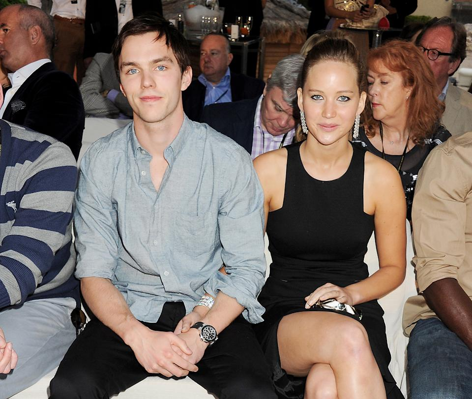 Jennifer Lawrence and Nicholas Hoult in 2012