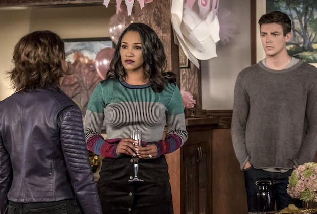"""d84cacfa The Flash's West-Allen family """"reunion"""" stands to be a quite awkward one,  given speedster-from-the-future Nora's favoring of one parental unit over  another."""