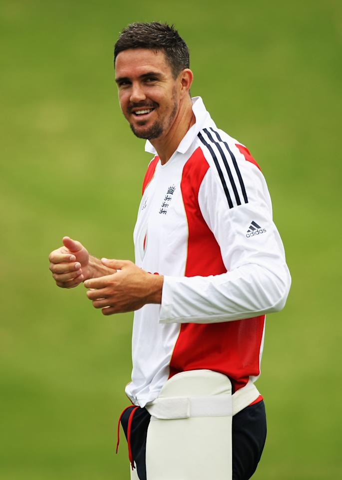 JOHANNESBURG, SOUTH AFRICA - JANUARY 13:  Kevin Pietersen of England smiles during an England nets session at The Wanderers Cricket Ground on January 13, 2010 in Johannesburg, South Africa.  (Photo by Paul Gilham/Getty Images)