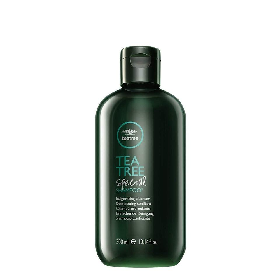 """<h3><a href=""""https://www.ulta.com/tea-tree-special-shampoo?productId=xlsImpprod10271369"""" rel=""""nofollow noopener"""" target=""""_blank"""" data-ylk=""""slk:Paul Mitchell Tea Tree Special Shampoo"""" class=""""link rapid-noclick-resp"""">Paul Mitchell Tea Tree Special Shampoo</a></h3><br>""""Tea tree oil shampoos may help people with a dry or itchy scalp, and even seborrheic dermatitis,"""" says Morgan Rabach, MD, dermatologist and co-founder of <a href=""""https://www.instagram.com/lmmedical.nyc/"""" rel=""""nofollow noopener"""" target=""""_blank"""" data-ylk=""""slk:LM Medical NYC"""" class=""""link rapid-noclick-resp"""">LM Medical NYC</a>. """"Paul Mitchell Tea Tree Special Shampoo is great because it's safe for color-treated hair."""" That said, if symptoms aren't letting up, it might be time to switch to the medicated stuff: """"Tea tree is a good natural alternative, but will not be as effective as <a href=""""https://www.refinery29.com/en-us/best-dandruff-shampoo"""" rel=""""nofollow noopener"""" target=""""_blank"""" data-ylk=""""slk:traditional scalp shampoos"""" class=""""link rapid-noclick-resp"""">traditional scalp shampoos</a> that are prescribed.""""<br><br><strong>Paul Mitchell</strong> Tea Tree Special Shampoo, $, available at <a href=""""https://www.ulta.com/tea-tree-special-shampoo?productId=xlsImpprod10271369"""" rel=""""nofollow noopener"""" target=""""_blank"""" data-ylk=""""slk:Ulta Beauty"""" class=""""link rapid-noclick-resp"""">Ulta Beauty</a>"""
