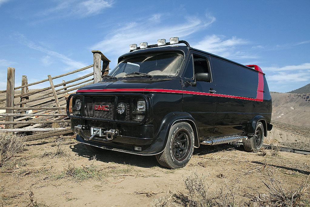 """1982 GMC VANDURA   As Seen In: <a href=""""http://movies.yahoo.com/movie/1808402981/info"""">The A-Team</a>  Key Technical Specs: 7.4L V8 Engine, bullet-proofing, largely unnecessary spoiler.    If you're a ragtag band of fugitives from the law, what better way to roll than in this totally sweet, and easily recognizable, ride?    Available Options: Deluxe gun rack holds up to 15 assault rifles, state of the art explosives compartment, and extra cup holders."""