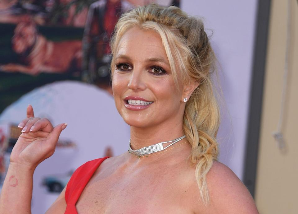 Britney Spears arrives at a movie premiere in Hollywood on July 22, 2019.