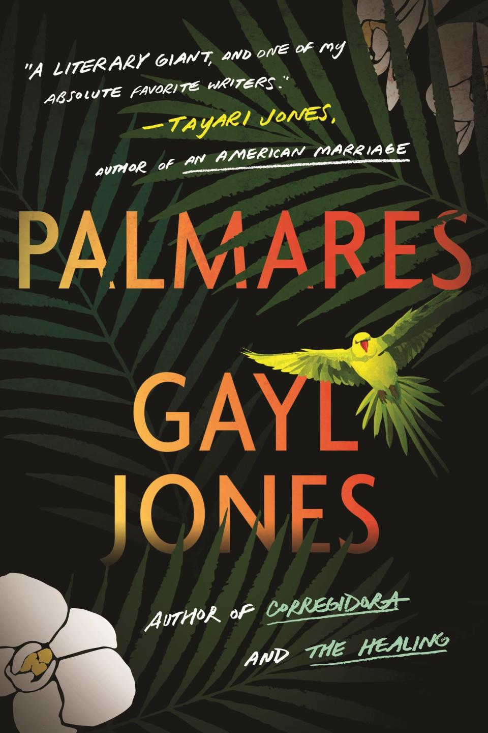 """This cover image released by Beacon Press shows """"Palmares"""" by Gayl Jones, releasing Sept. 14. (Beacon Press via AP)"""