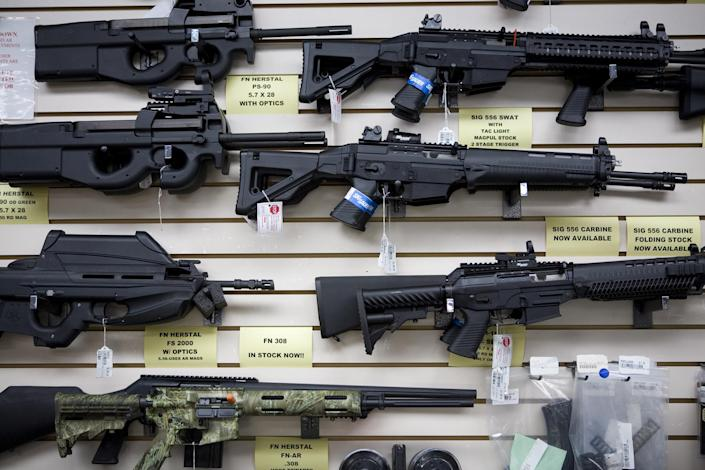 Image: Gun Store, Texas (Gilles Mingasson / Getty Images file)