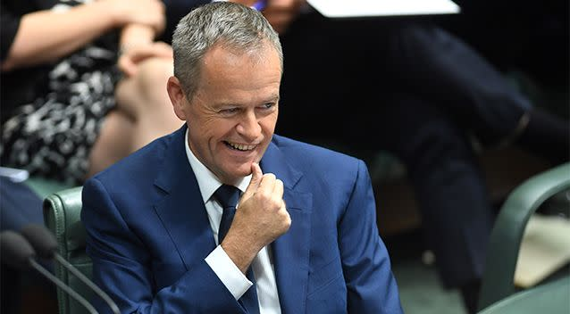 Opposition leader Bill Shorten pictured during Question Time at Parliament House, Canberra, on Monday. Photo: AAP