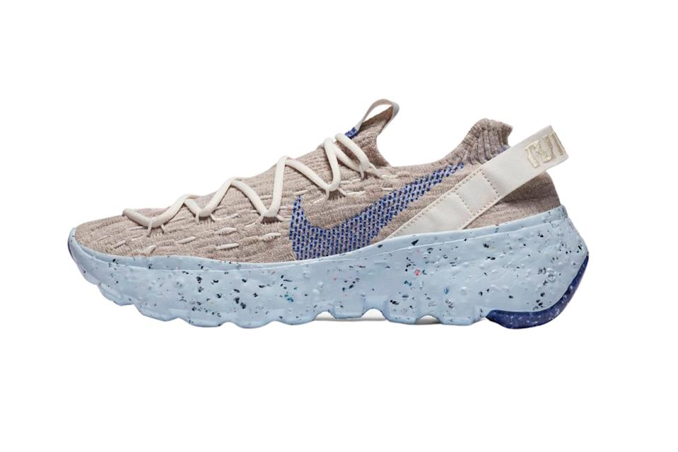"""$130, Nike. <a href=""""https://www.nike.com/launch/t/womens-space-hippie-04-astronomy-blue-this-is-trash"""" rel=""""nofollow noopener"""" target=""""_blank"""" data-ylk=""""slk:Get it now!"""" class=""""link rapid-noclick-resp"""">Get it now!</a>"""
