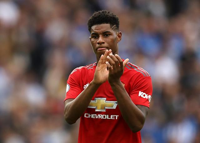 Marcus Rashford has been limited to substitute appearances, including during the defeat at Brighton