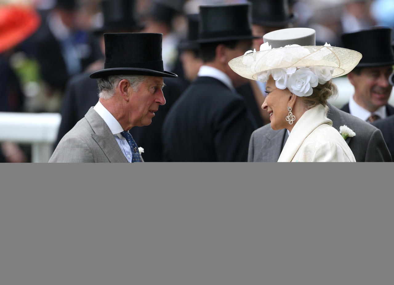 The Prince of Wales talks to Princess Michael of Kent during day one of the Royal Ascot meeting at Ascot Racecourse, Berkshire.