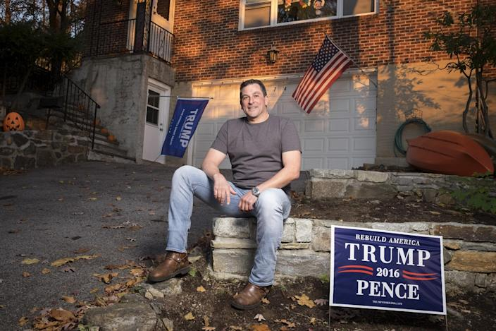 Trump supporter Chris Fresiello at his home in November 2016. (Photo: David Scott Holloway for Yahoo News)