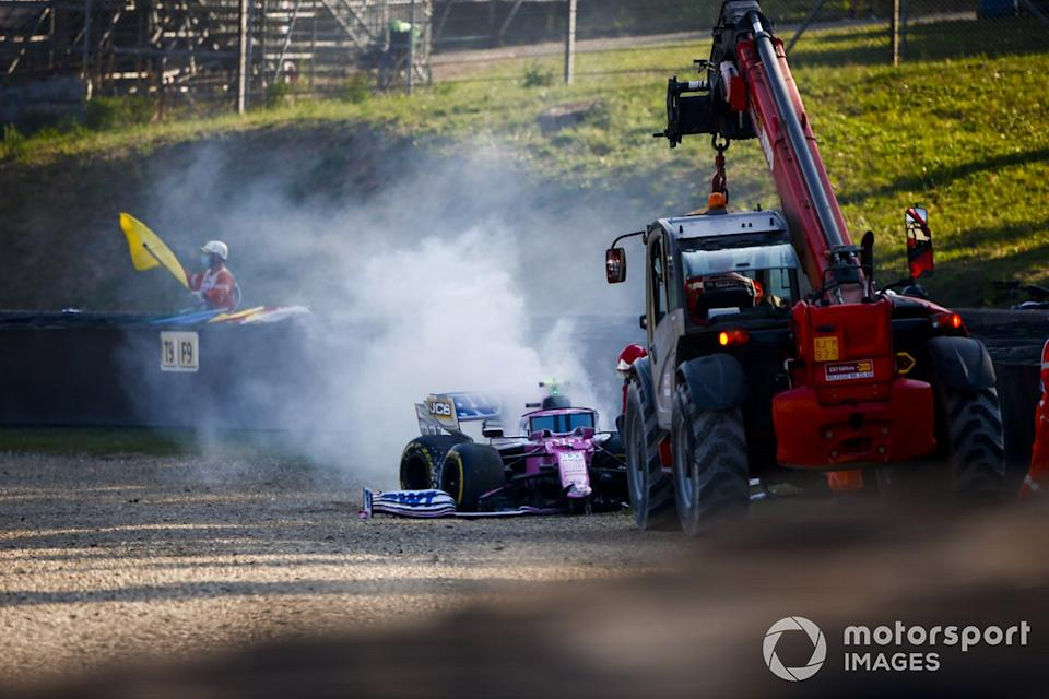 "El monoplaza chocado de Lance Stroll, Racing Point RP20<span class=""copyright"">Andy Hone / Motorsport Images</span>"