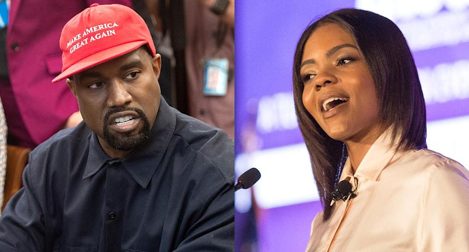 Kanye West and Candace Owens (Photos: Getty Images)