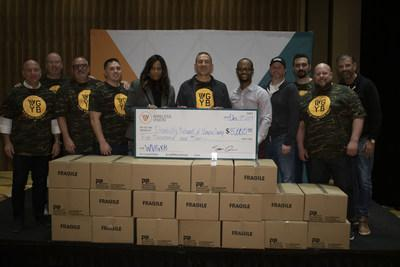 Wireless Vision donates 700 hygiene kits and a check for $5,000 to the Disability Network Wayne County Detroit.Included is Saber Ammori, CEO of Wireless Vision, Lori Hill, Exec. Director, Disability Network Wayne County Detroit, along with Wireless Vision executives and WV military veteran staff.
