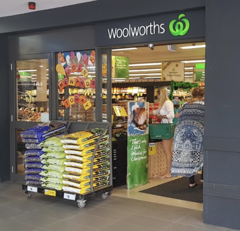 Photo shows front of South Maroubra Woolworths in Sydney.