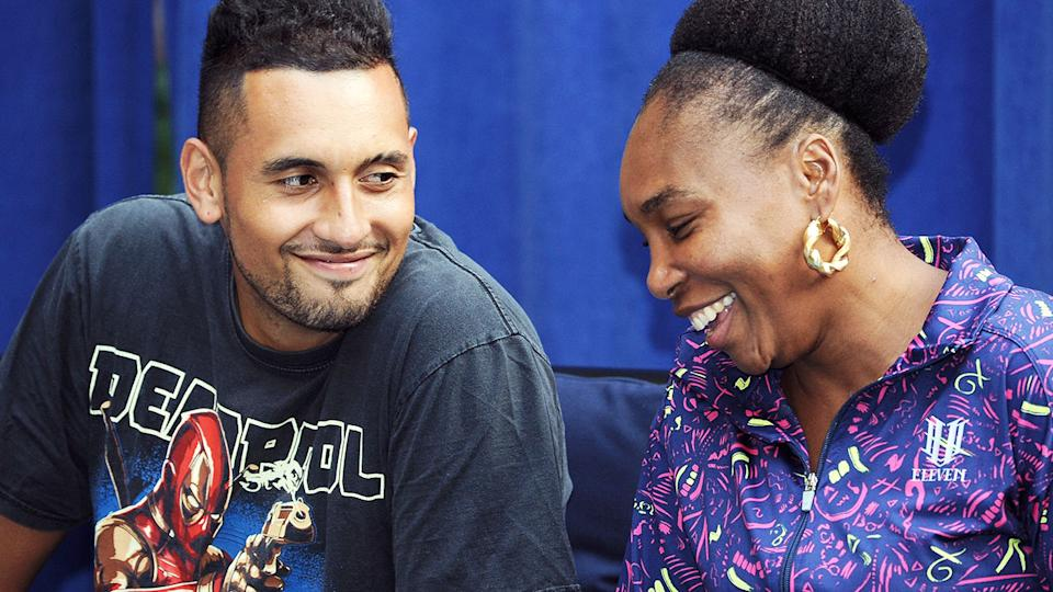 Nick Kyrgios and Venus Williams, pictured here at an event in New York in 2018.