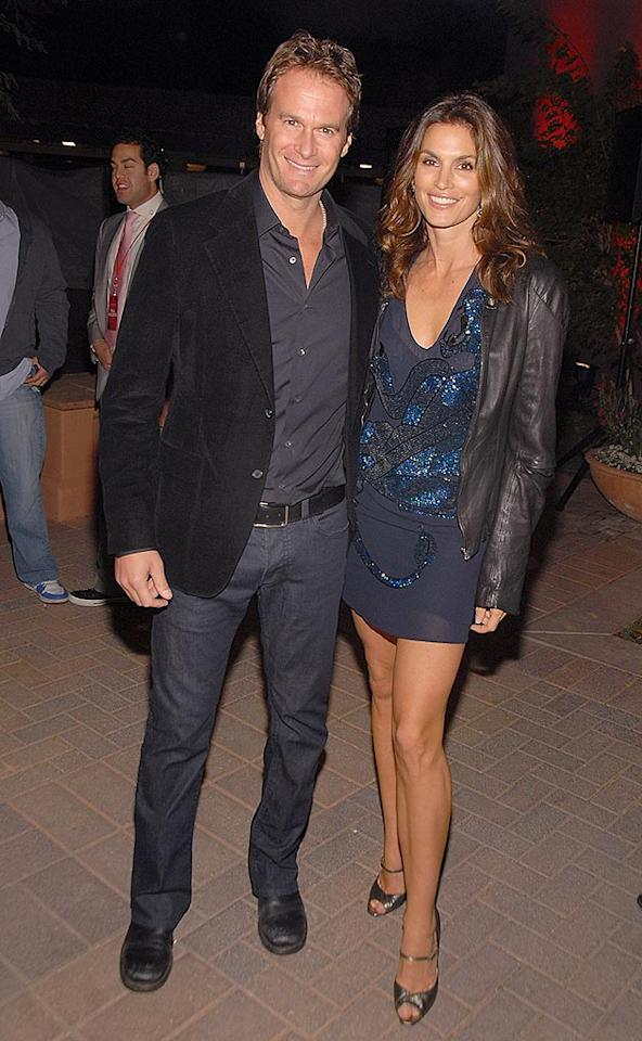 "Eternal beauty Cindy Crawford and her restauranteur husband Rande Gerber could give Tom Brady and Gisele Bundchen a run for their money in the hottie department. Theo Wargo/<a href=""http://www.wireimage.com"" target=""new"">WireImage.com</a> - February 1, 2008"