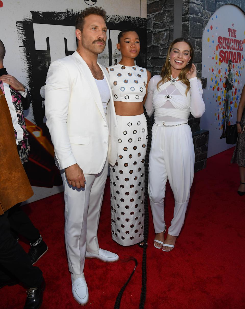 """Margot Robbie, Storm Reid, and Jai Courtney attend the """"Suicide Squad"""" premiere in Los Angeles. - Credit: Michael Buckner for PMC"""