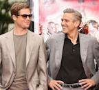 <p>Brad Pitt! The <em>Ocean</em>'s costars are just flirting with 6 foot glory. George must be slouching here. </p>